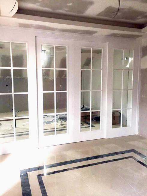 puertas francesas de alto brillo blancas correderas de