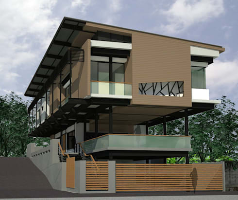 House @ ศรีราชา:  บ้านและที่อยู่อาศัย by SDofA Architect