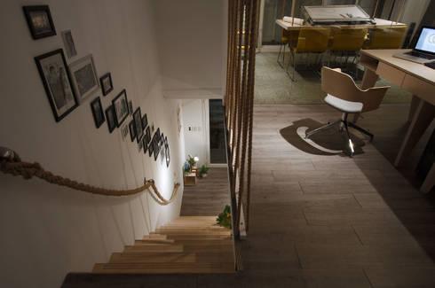不同區塊調整不一樣的工作心情。:  辦公室&店面 by 有偶設計 YOO Design
