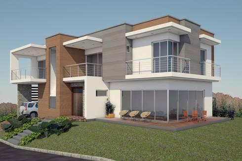 VIVIENDA LINDA GRANJA: Casas de estilo moderno por G2 ESTUDIO