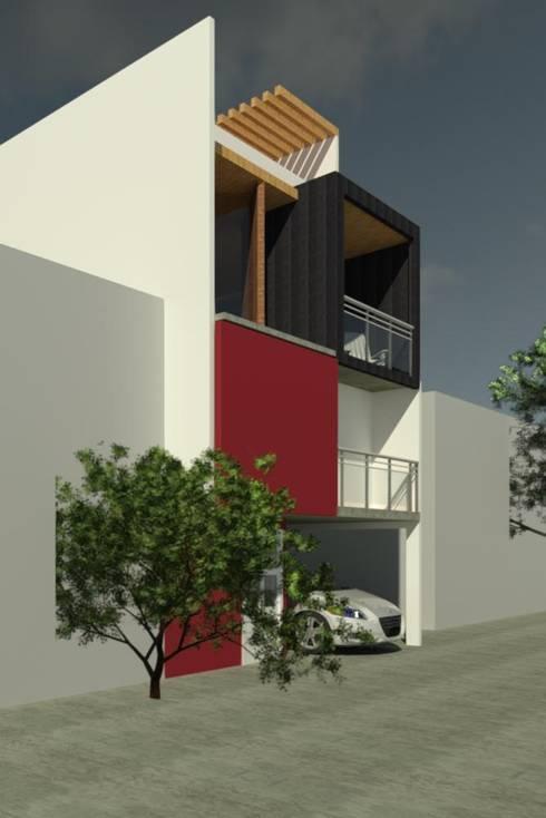 Casas de estilo moderno por Perfil Arquitectónico