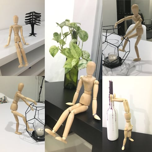 Hombre de madera: Estudio de estilo  por CONSTRUCCIONES 2AM S.A.S.