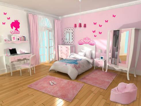 Dormitorio infantil ni a princesa de lo quiero en mi casa - Dormitorios infantiles nina ...