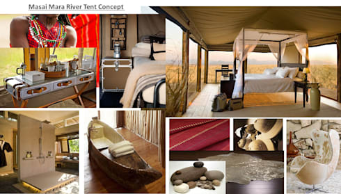 Masai Mara : eclectic Bedroom by House of Gargoyle