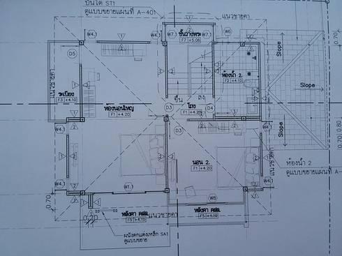 ออกแบบบ้านพักอาศัย คสล 2 ชั้น 3 ห้องนอน 1 ห้องรับแขก 2 ห้องน้ำ:   by designbypro
