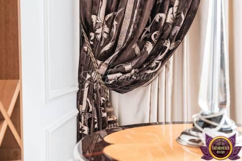   Curtains Design Dubai of Katrina Antonovich: classic Living room by Luxury Antonovich Design
