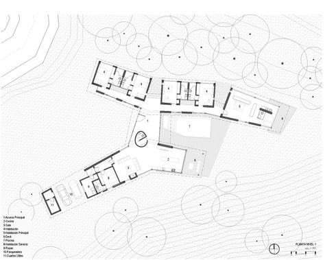 Planta nivel 1: Casas de estilo rural por OPUS