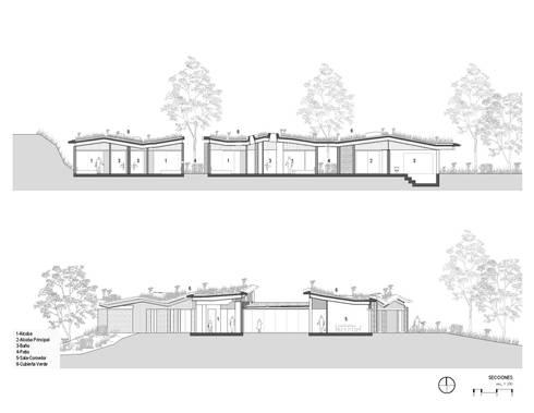 Secciones: Casas de estilo rural por OPUS