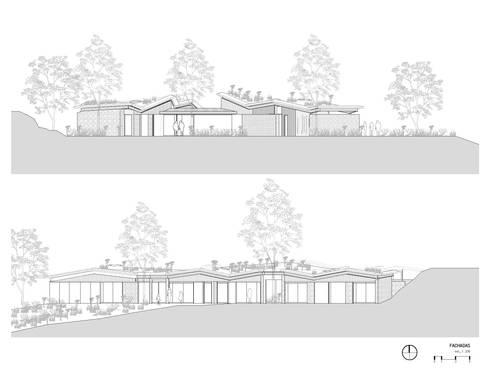 Fachadas: Casas de estilo rural por OPUS