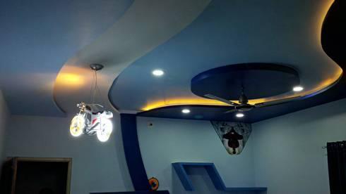 Mansi Twins: modern Bedroom by AOM Interior