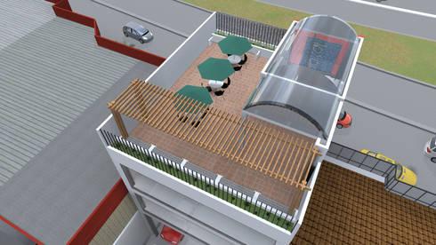 Cubierta: Oficinas y Tiendas de estilo  por ConstruKapital