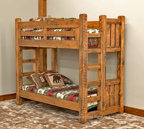 Timber Frame Bunk Bed Rustic Bedroom By Woodland Creek