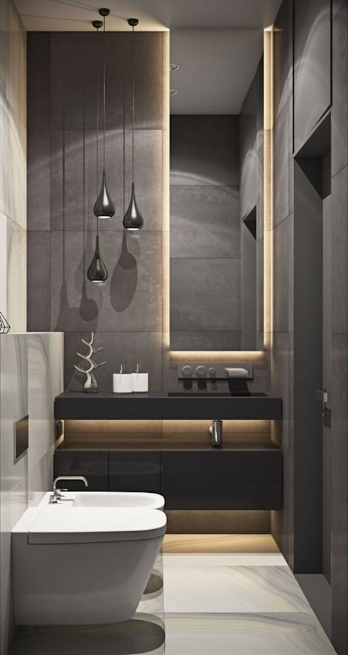 INTERIOR FLAT:  Bathroom by Archie-Core
