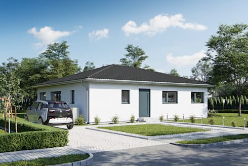 Bungalow modern von gmbh co kg homify for Bungalow bauen modern