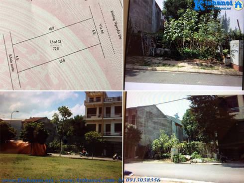 Mẫu thiết kế biệt thự 3 tầng 9x16m hiện đại:   by Văn phòng kiến trúc Ktshanoi