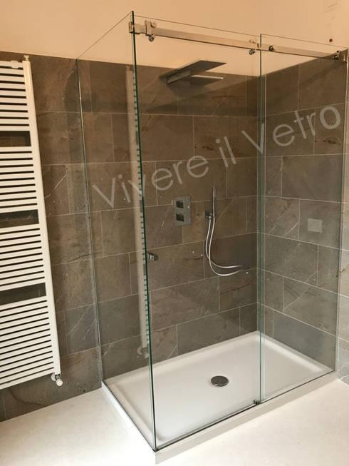 Box doccia in vetro per un bagno moderno di vivere il for Bagno moderno doccia