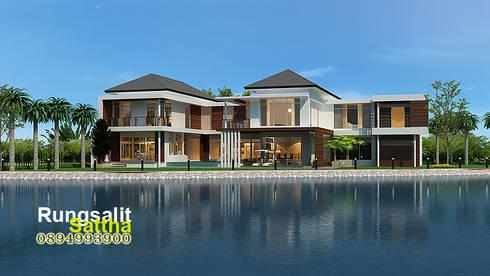 แบบบ้านโมเดิร์นหรู Modern Luxury:   by R.C. Interior and Architect