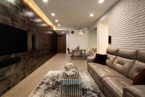 Minton Condo Interior Design Singapore: modern Living room by Posh Home