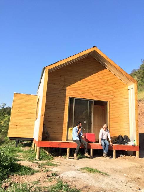 Vivienda Prefabricada 48 m2: Casas de estilo  por Estudioeco21