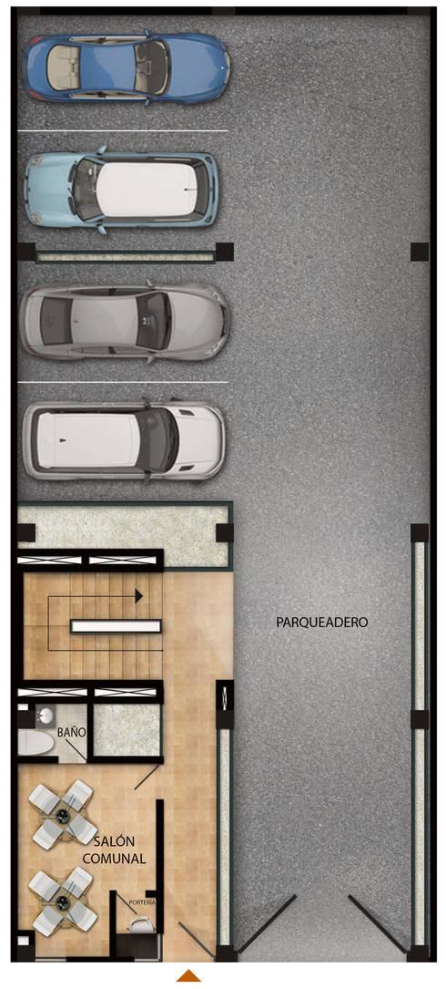 Modelo parqueadero:  de estilo  por BAGIC ARQUITECTURA