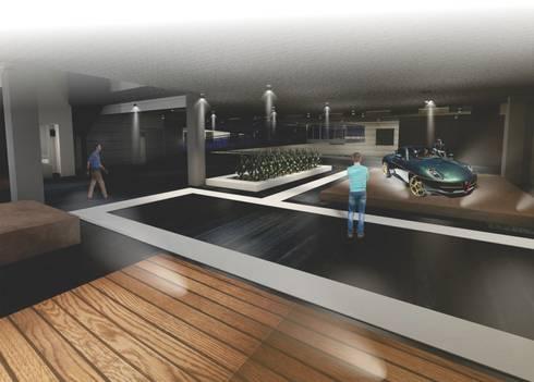 Tesis Centro Comercial Automotriz:  de estilo  por BAGIC ARQUITECTURA