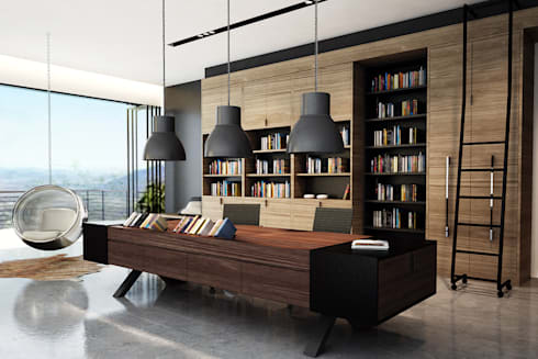 Office:  Ruang Kerja by Juxta Interior