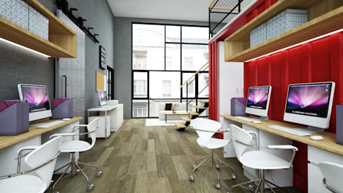 GEO Convex Office:  Kantor & toko by Juxta Interior