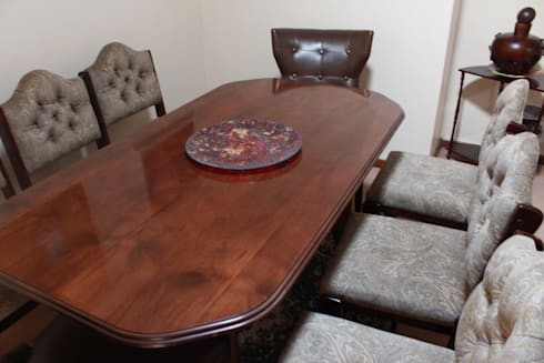 Reupholstery of Dining Chairs: country Dining room by Buhle Bendalo Designs