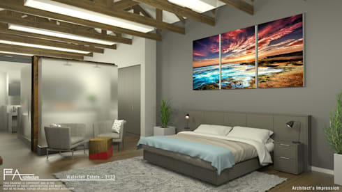 Sleep: modern Bedroom by Facet Architecture