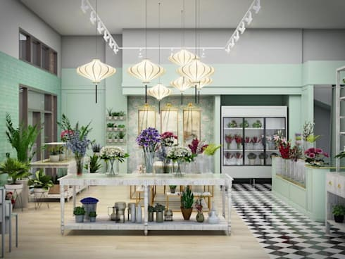 Our ongoing project. A flower shop in Shanghai:   by The guidelines design studio