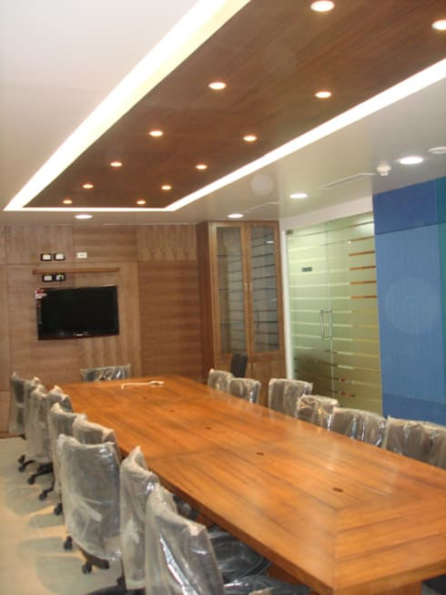 conference room: asian Study/office by Mithi Interiors Private Limited