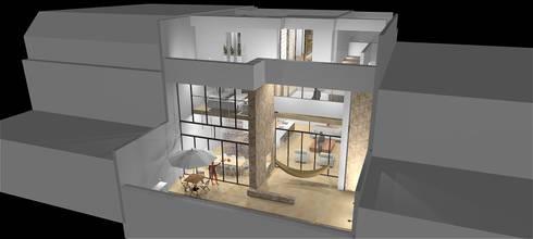 Casa VELANDIA : Casas de estilo moderno por Rs + Arquitectos
