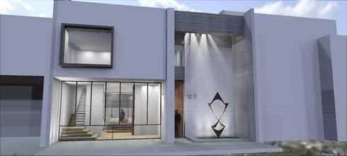 Fachada principal: Casas de estilo moderno por Rs + Arquitectos
