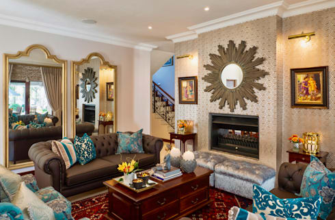 Main Living Room Interior: classic Living room by Carne Interiors