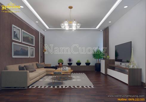 NamCuong design company:  Phòng khách by Công ty Cổ phần tư vấn thiết kế xây dựng Nam Cường