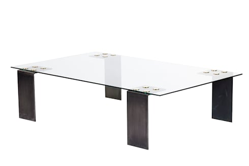 Glass patch coffee table: modern Living room by Egg Designs CC