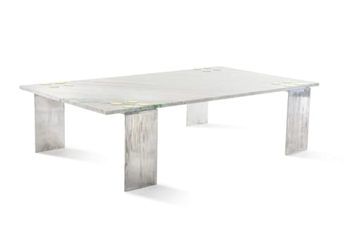 Marble patch coffee table: modern Living room by Egg Designs CC