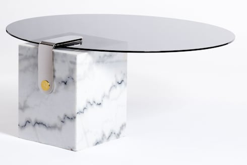 Marble patch round coffee table: modern Living room by Egg Designs CC