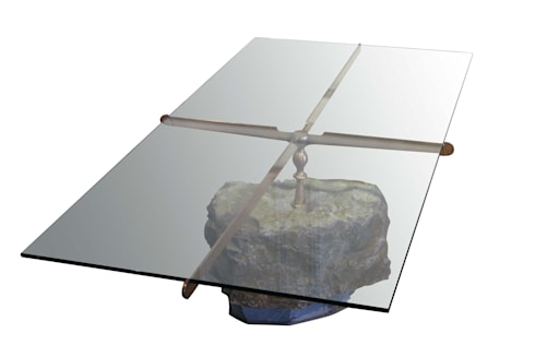 Stone coffee table: modern Living room by Egg Designs CC