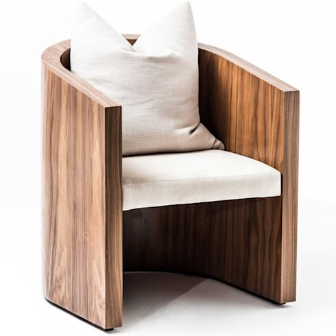 Coccoon occasional chair: modern Living room by Egg Designs CC