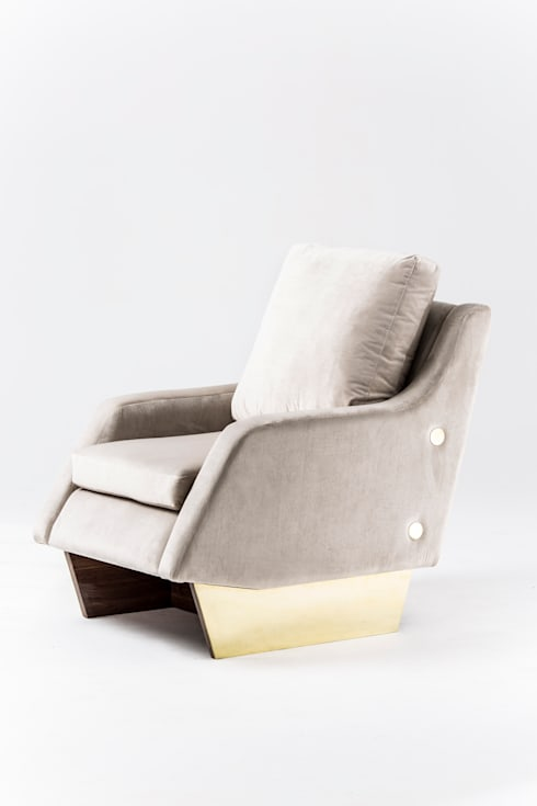Slide occasional chair: modern Living room by Egg Designs CC