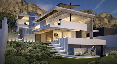 Street View _ Upper Tree: modern Houses by GSQUARED architects