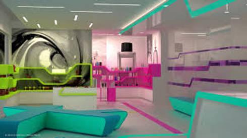 NEON: Salas multimedia de estilo moderno por DISEÑOSLA