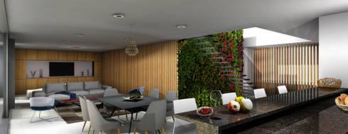 Casa Miravalle Buga: Comedores de estilo moderno por COLECTIVO CREATIVO