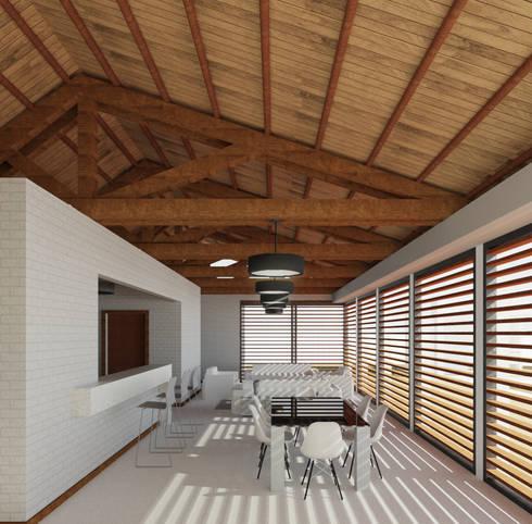 Casa Ginebra JPO: Salas de estilo moderno por COLECTIVO CREATIVO