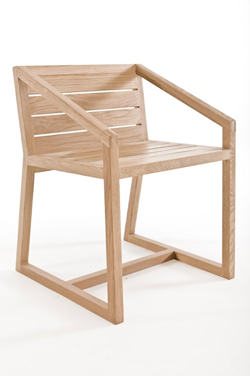 Little miss fat slatted back dining chair: modern Dining room by Egg Designs CC