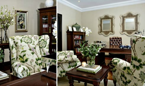 Recent Decorating Projects—Joseph Avnon Interiors: colonial Study/office by Joseph Avnon Interiors