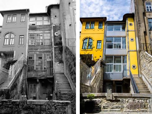 Fachada Tardoz (antes e depois):   por Ricardo Baptista, Arquitecto