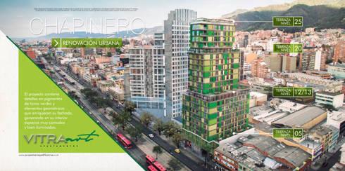 VITRA ART Apartamentos:  de estilo  por Proyectamos y Edificamos