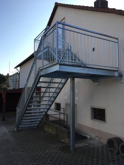 Außentreppe Stahl außentreppe stahl feuerverzinkt by treppenideal e k homify
